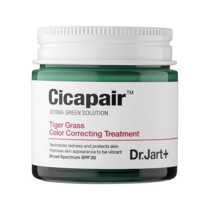 """<a href=""""http://www.sephora.com/cicapair-tiger-grass-color-correcting-treatment-spf-30-P411540"""" rel=""""nofollow"""">Dr. Jart+ Cicapair  Tiger Grass Color Correcting Treatment SPF 30</a>, $52"""