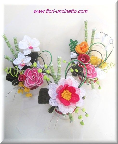 Foto - Photo - Fiori all'Uncinetto - Crochet Flowers