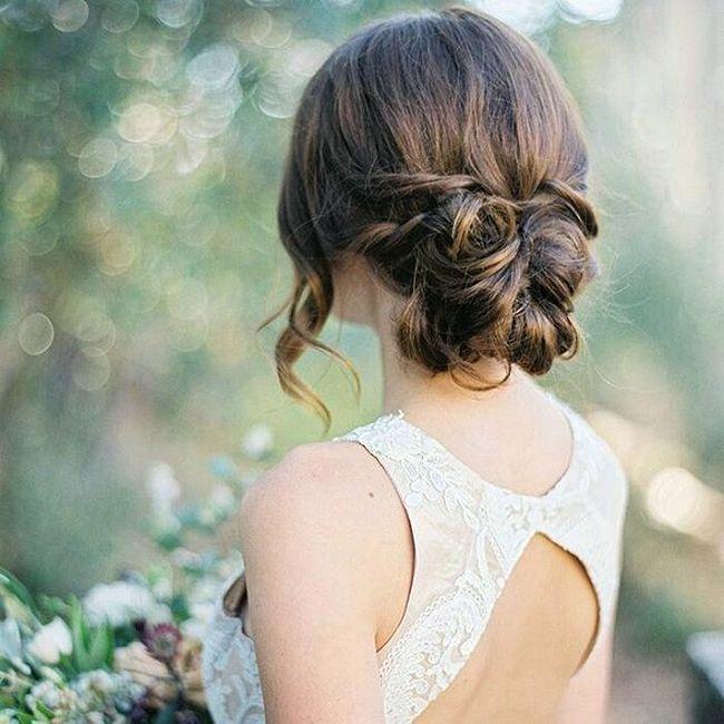 awesome Красивые свадебные прически на средние волосы (50 фото) - С фатой и без