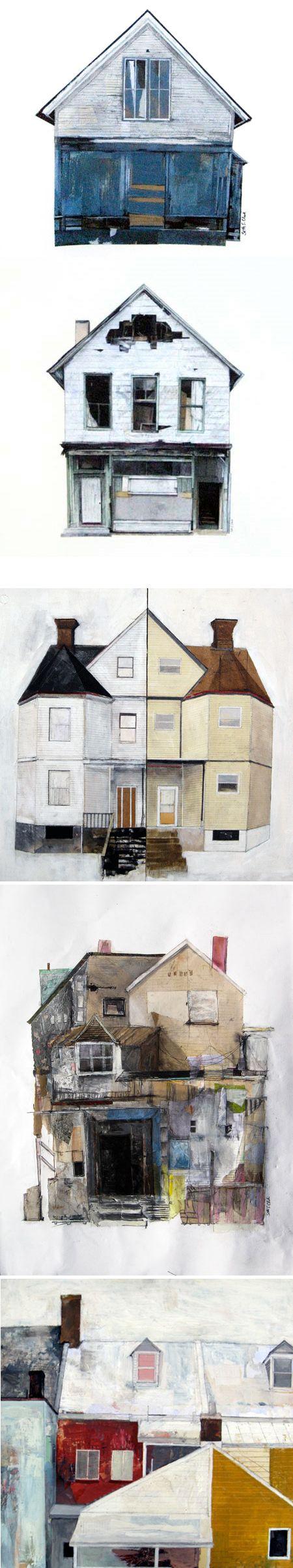 Seth Clark house collages http://sethsclark.com/work/index.php?/art/abandoned/ #art
