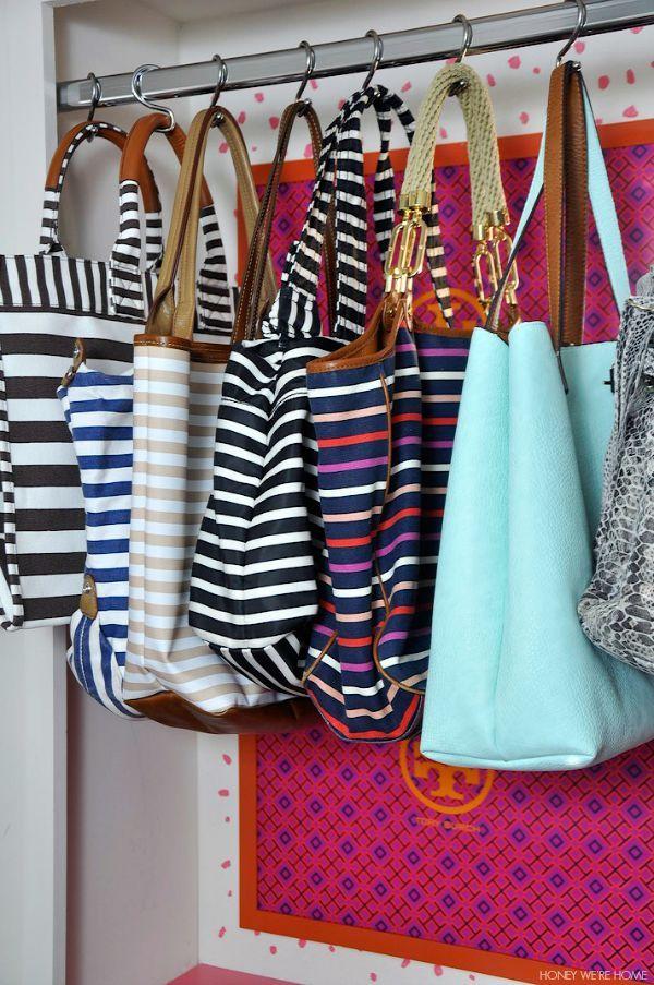 Una idea para que usen fácilmente y rápidamente para elegir que bolso vas ah llevar a tu salida d casa
