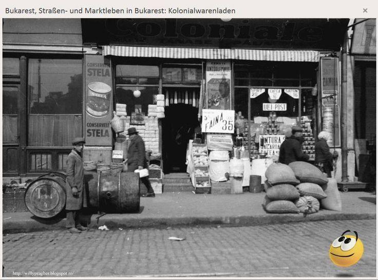 """Conserve Stela, ulei de post, untură, cafea, făină, macaroane, săpun... Mai folosește cineva, azi, cuvântul """"coloniale""""? aprilie 1932 — in Bukarest, Rumänien."""