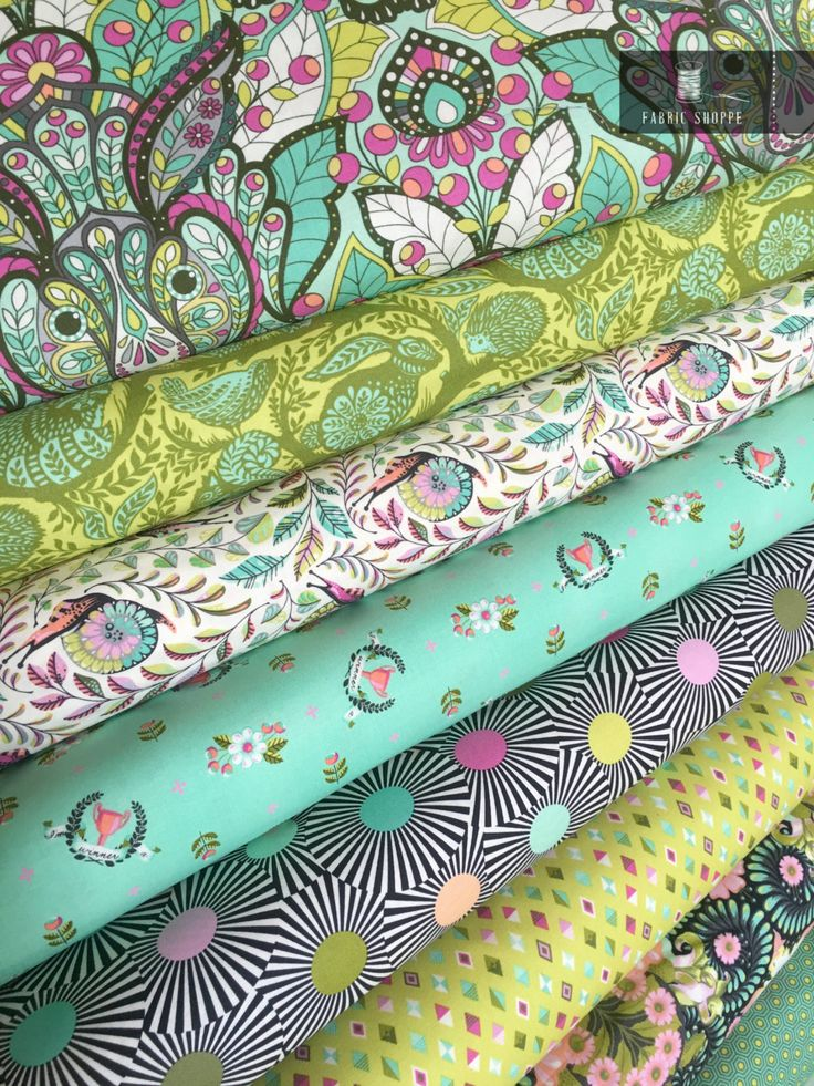 Slow and Steady fabric bundle by Tula Pink, Tortise and the Hare, Fairytale…