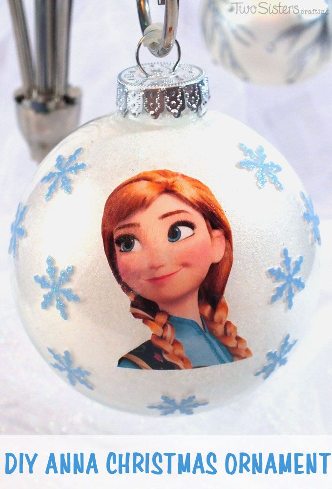 Do you have a Frozen fan in your family? Make them a DIY Anna Christmas Ornament for this year's Christmas Tree. This is a fun and easy to make Frozen Christmas decoration that is sure to please. For more great Frozen projects follow us at http://www.pinterest.com/2SistersCraft/