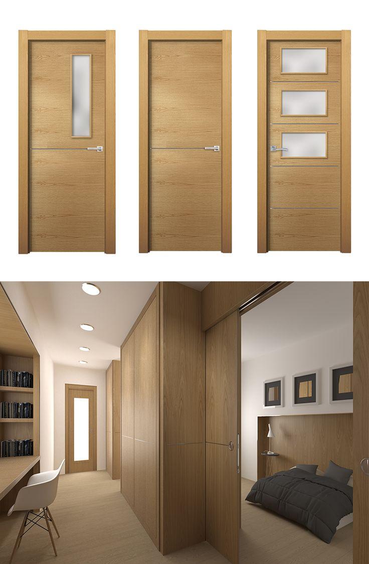 puerta de interior clara modelo merlot de la serie costa