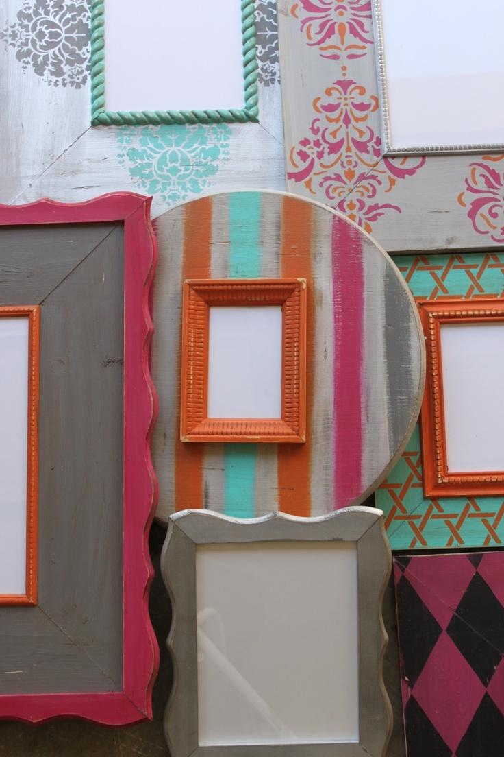 Delta Girl Distressed Frames: C O L O R