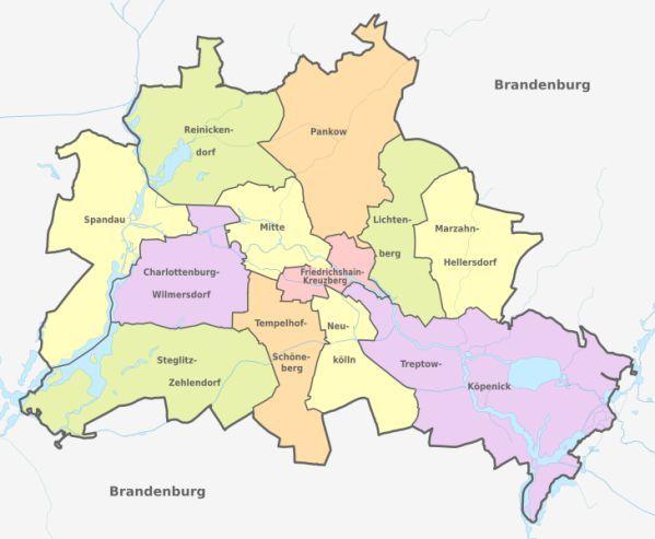 Berlin Hautpstadt Und Bundesland Berlin Landkarte Deutschland