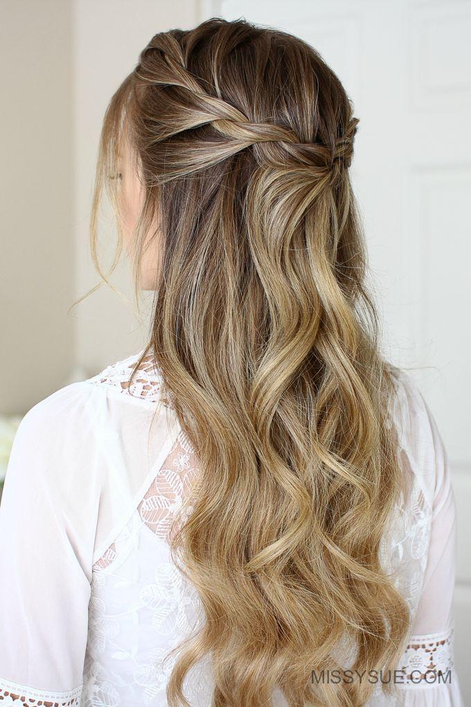 three Simple Rope Braid Hairstyles