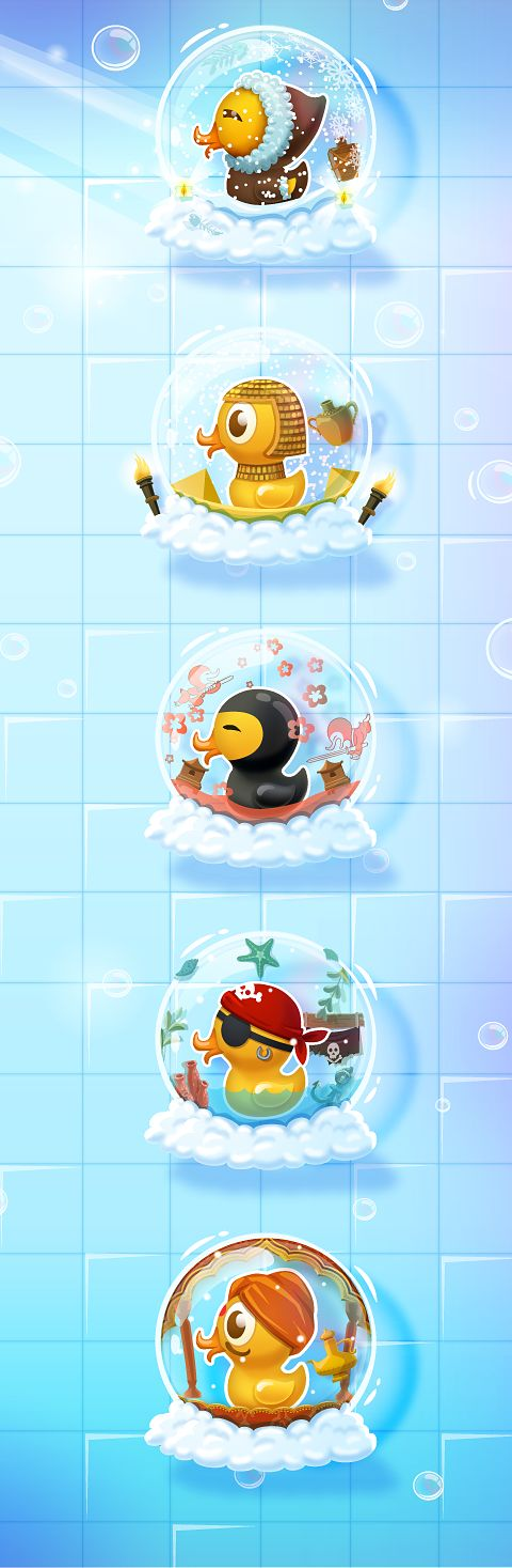 Bubble Boom - Art for Mobile Game by Vera Vakrat, via Behance