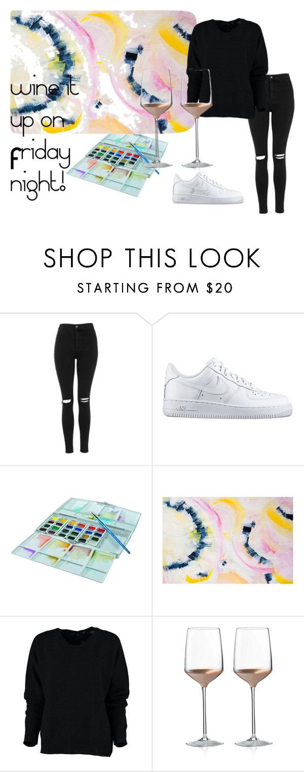 #friday by slounis on Polyvore featuring moda, Topshop, NIKE, Wedgwood, women's clothing, women's fashion, women, female, woman and misses