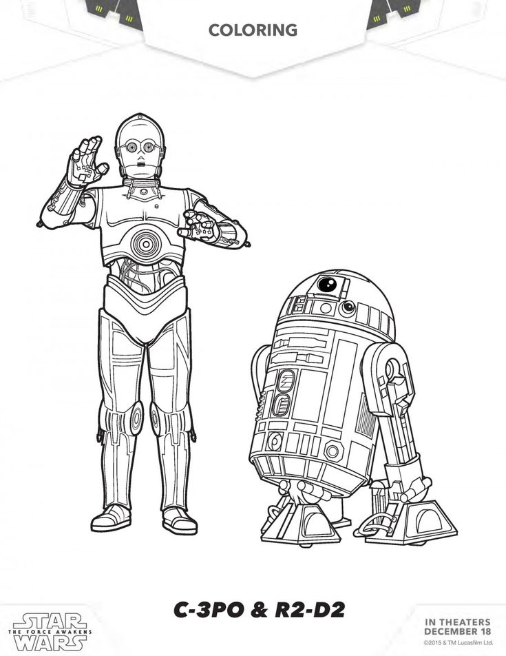 98 best Kidu0027s Printables, Coloring Pages, and Activities images on - best of star wars coloring pages the force awakens