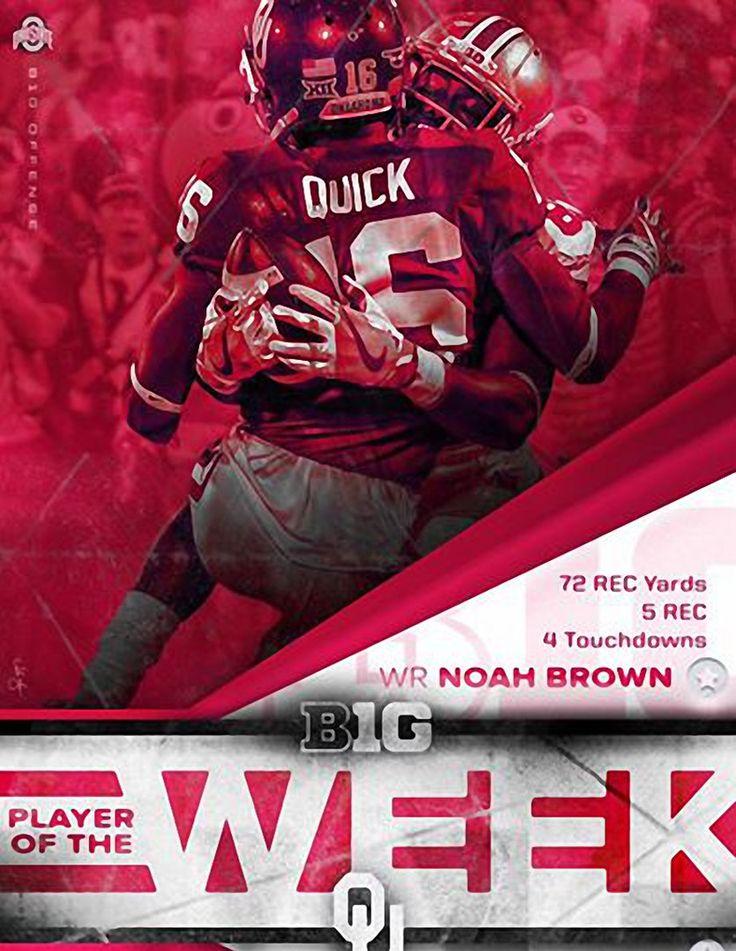 9-19-2016 B1G OFFENSIVE PLAYER OF THE WEEK NOAH BROWN.