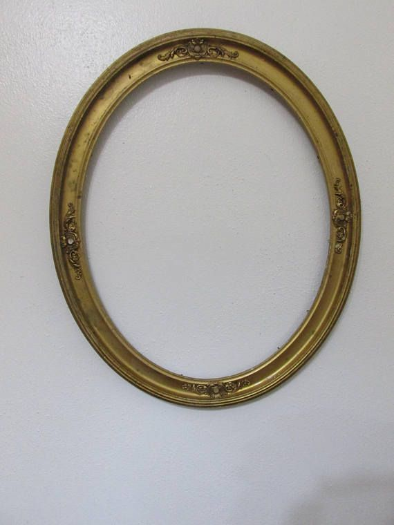 Oval Picture Frame Antique Wood Gesso No Glass Vintage Diy Mirrors