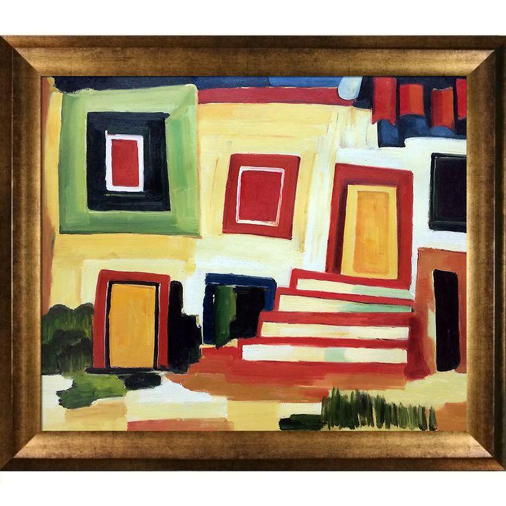 Amadeo Cardoso 'A Clear House' Hand Painted Framed Art