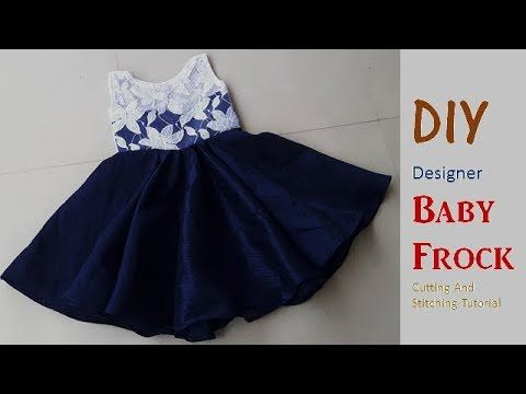 e61a3a7617 Latest Designer Baby Frock Cutting And Stiching ! DIY ! - YouTube ...