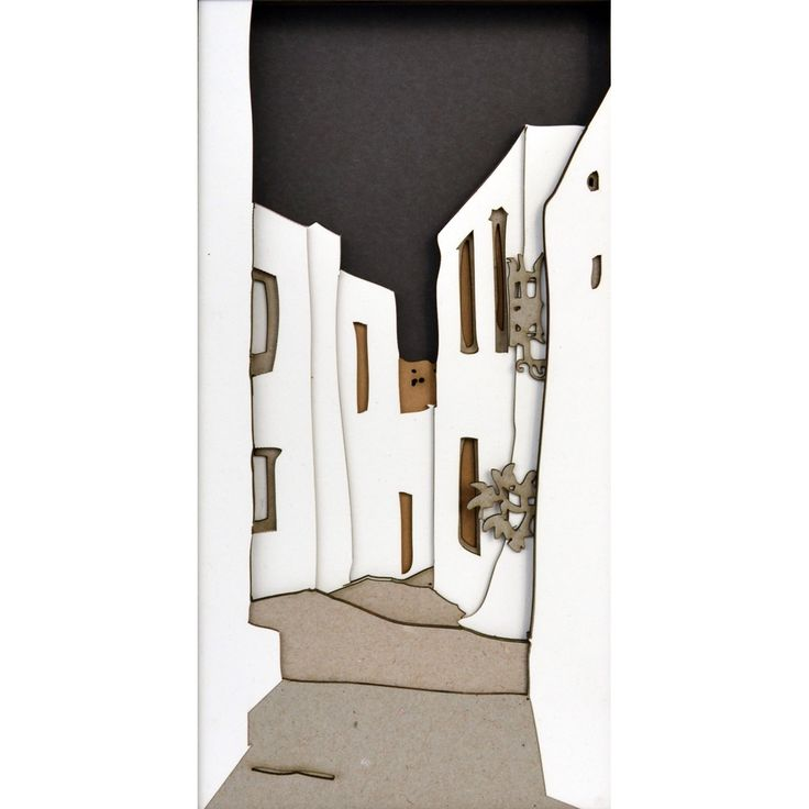 One more alley. Not unlike the previous one. Cut-outs. Dimensions 92 x 42 cm