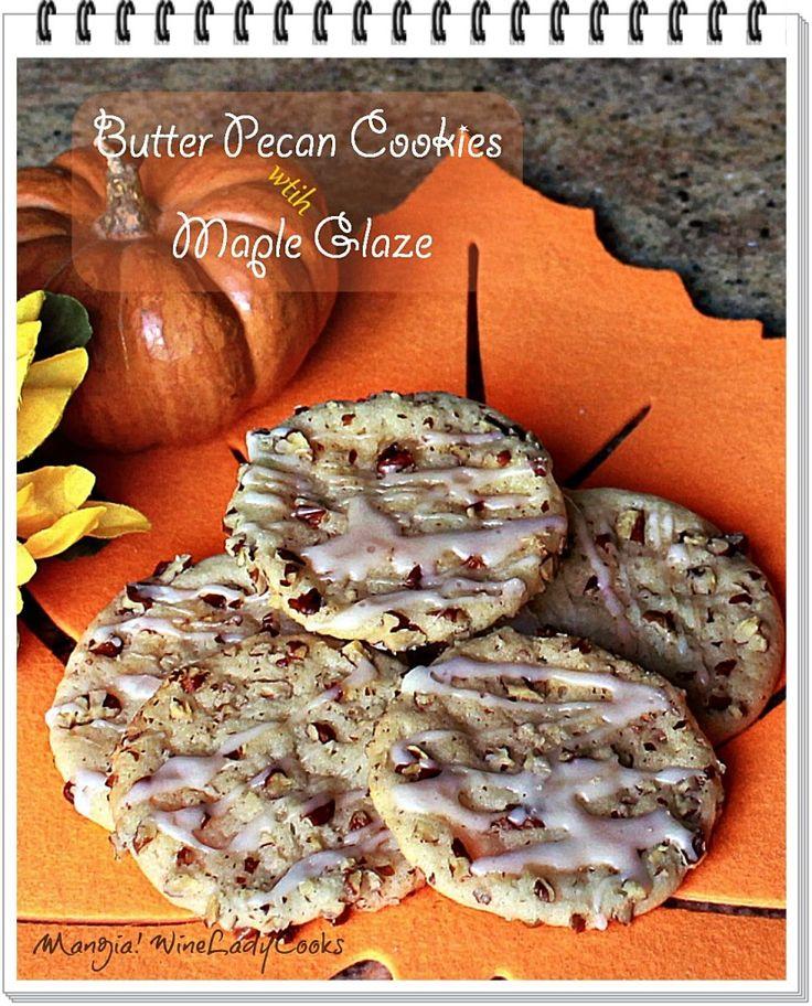 Butter pecan cookies, Pecan cookies and Maple glaze on Pinterest