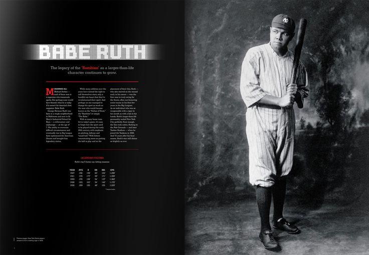 #Babe #Ruth profile. #MLB #baseball #book #design