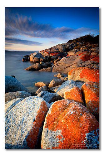 Orange Rocks, Binalong Bay part of the Bay of Fires, Tasmania, Australia | Flickr - Photo Sharing!