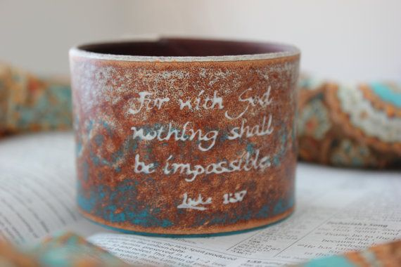 Painted Weathered Brown Teal and White Leather by PurelyPoiema, $32.50: 27 50, Scripture Verse, Bible Scriptures, Weathered Brown, White Leather, Brown Teal