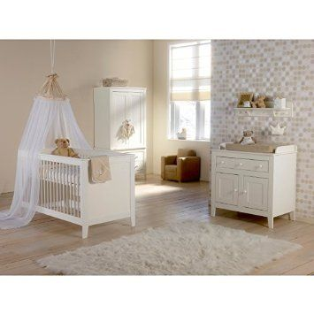 Europe Baby Montana White Cotbed Roomset Package