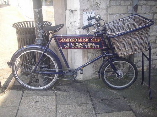 """Vintage Pashley tradesmans' bicycle.  View my original transport paintings at my website; http://jamessetevensart.carbonmade.com/about   or """"Like"""" my face book page at;  https://www.facebook.com/ClassicCarArtByJamesStevens?ref=hl   for regular updates or to contact me about possible commissions."""