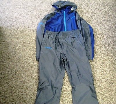 Jacket and Pants Sets 179981: Shimano Light Weight Rain Gear 2Xl Pants And Jacket Navy BUY IT NOW ONLY: $198.98
