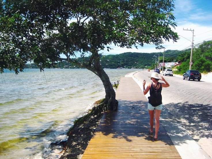 Walking the streets of Florinopolis Brazil 🎒🌙👣🍉👗🐞🇿🇦