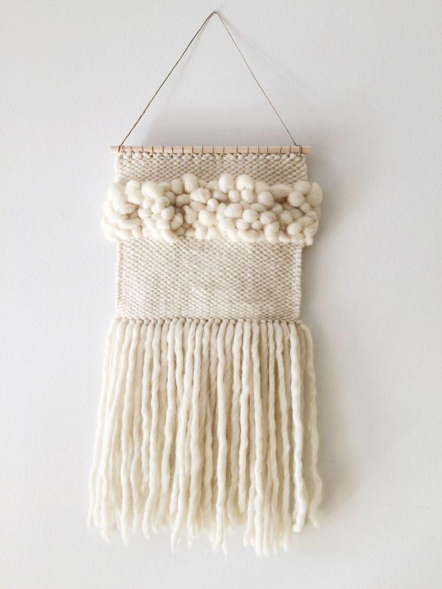 Chunky Wool Wall Weaving on Carrots & Raspberries