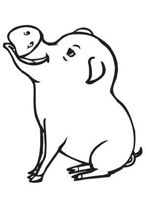 ausmalbild schwein auf dem bauernhof zum kostenlosen
