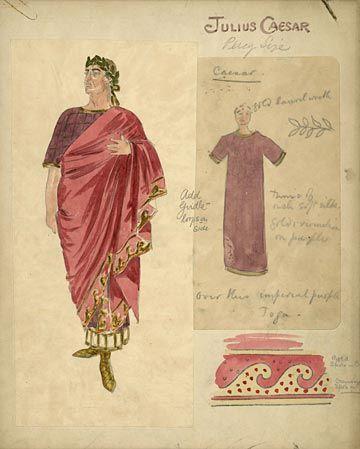 Julius Caesar Lyric Theatre, 1912  Costume design for Julius Caesar, 1912 Unidentified actor as Caesar
