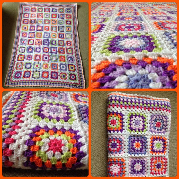 crocheted blanket, using New Fashion DK