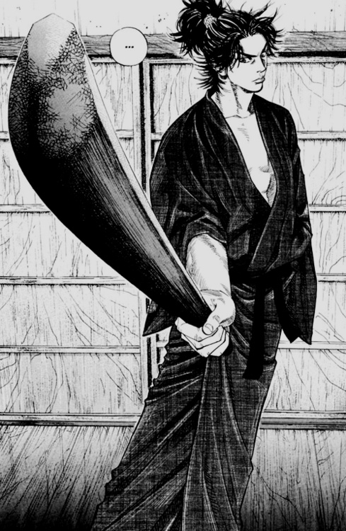 Vagabond (バガボンド, Bagabondo) is an ongoing manga by Takehiko Inoue, portraying a fictionalized account of Miyamoto Musashi's life.