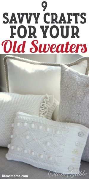 9 Savvy Crafts For Your Old Sweaters