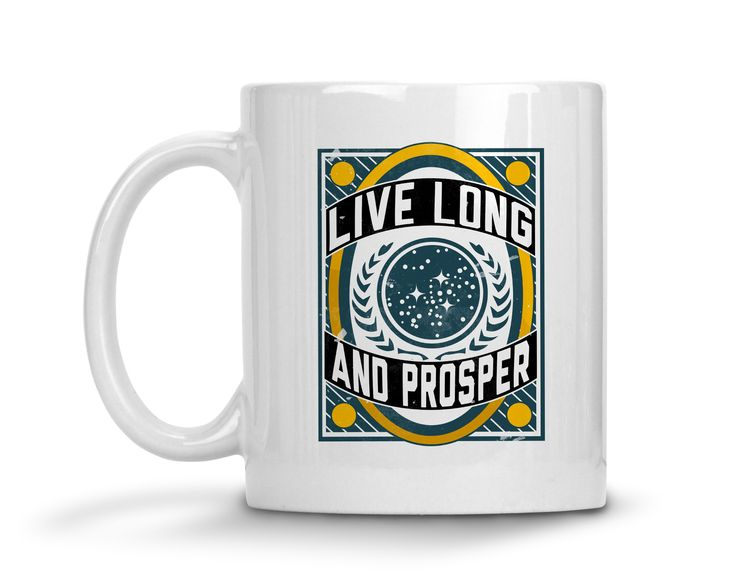 Live Long and Prosper Ceramic Coffee Mug  #funny #sassy #clothes #sayings #quotes #womens #tops #tees