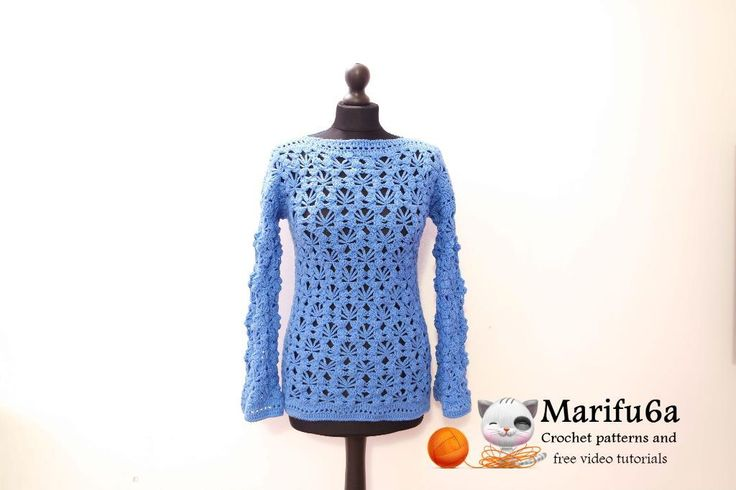 (4) Name: 'Crocheting : easy crochet pullover sweater pattern