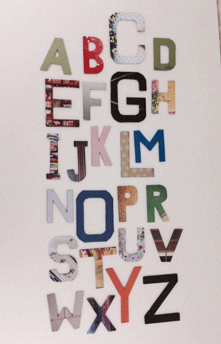 Colored and textured letters, alphabet - Renkli ve dokulu harfler, alfabe