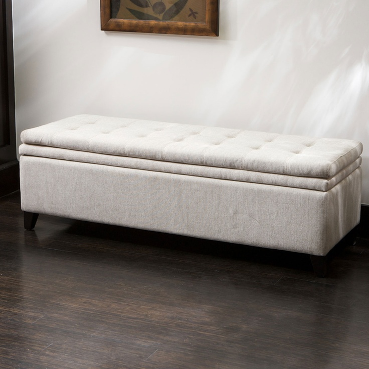 brighton white linen storage ottoman ottomans and cubes overstock