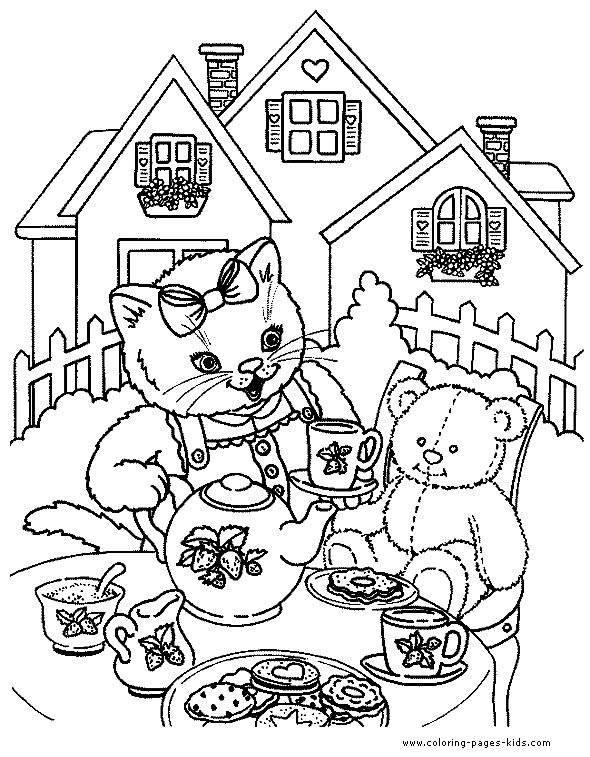 82 best Tea Coloring Art Print Pages Colouring for Adults images ...
