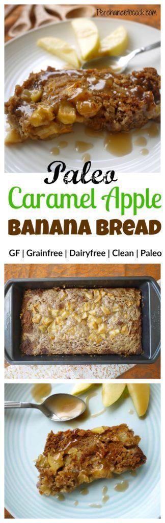 Caramel Apple Banana Bread (paleo, GF) | Perchance to Cook, www.perchancetocook.com