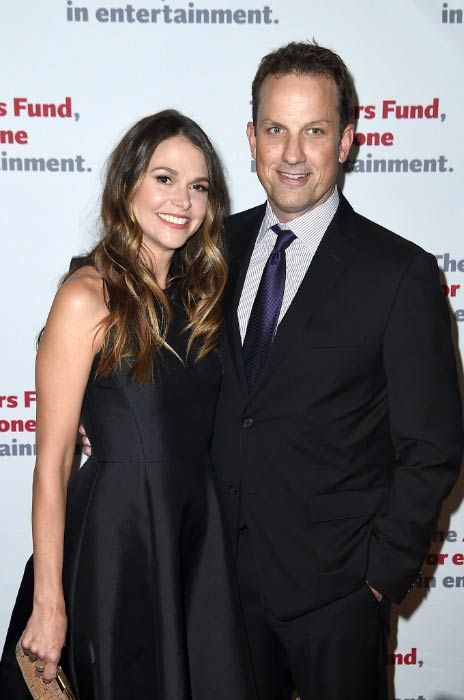 Sutton Foster and Ted Griffin at The Actors Fund Gala in April 2016...