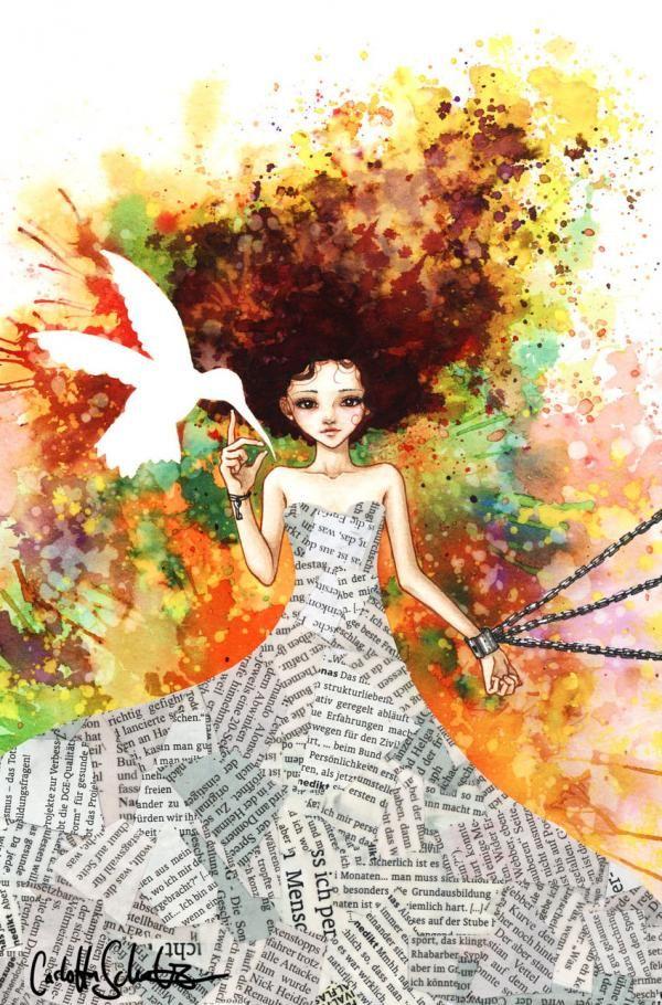 Opposites:  Illustrations by Carlotta Schulz aka Loonaki. Carlotta is an artist based in Germany.  <3 <3
