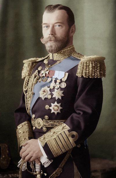 A photo portrait of Tzar Nicholas II, the last Emperor of the Russian Empire.