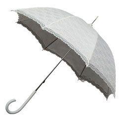 Kanten paraplu off-white