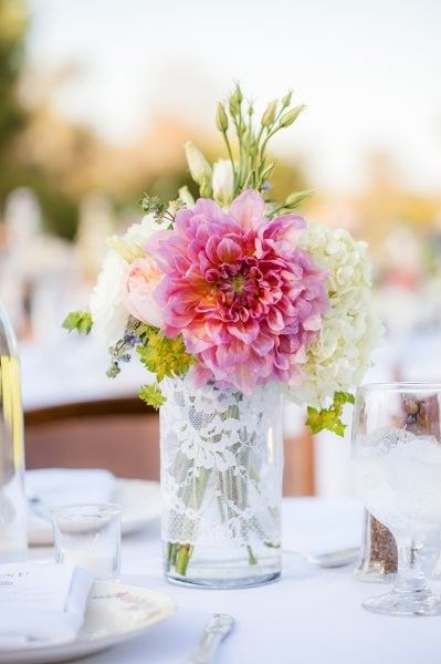 Dahlia Floral Arrangements, Wedding Flowers Photos by Parties and petals