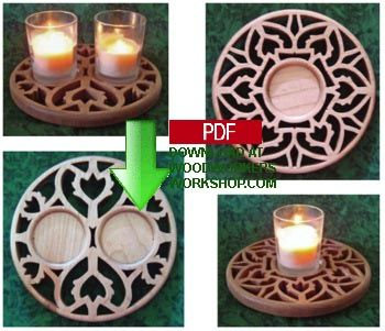 Victorian Hearts tealight holder