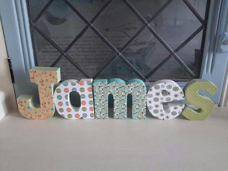 10cm paper mache letters - £2.50 per letter