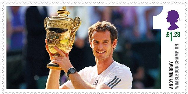 Andy Murray to appear on special set of stamps in honour of his Wimbledon victory
