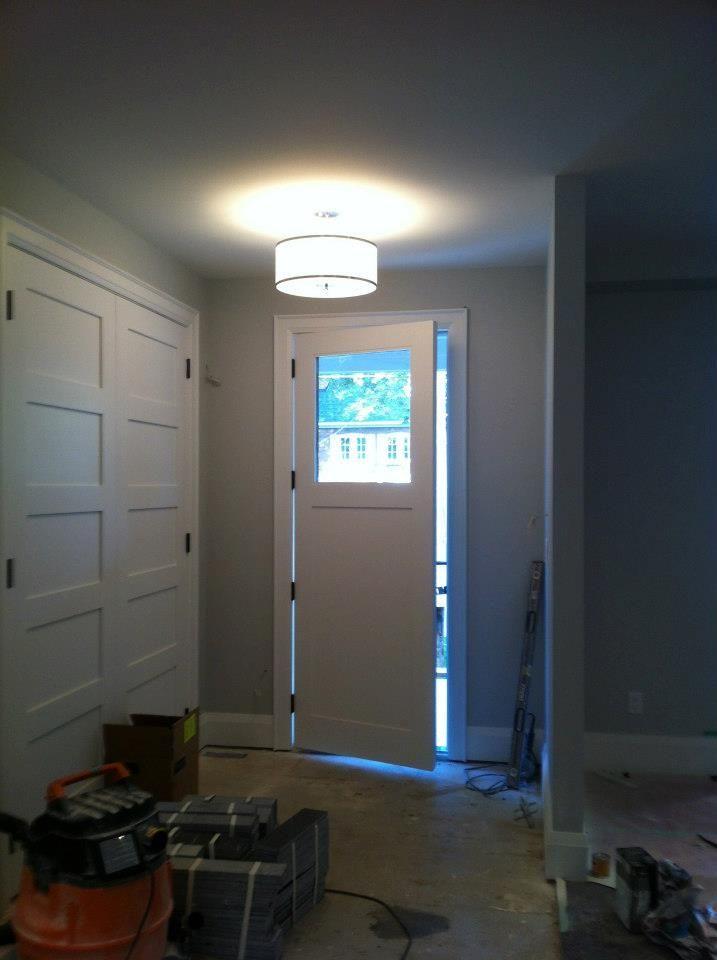 Front hall closet door design