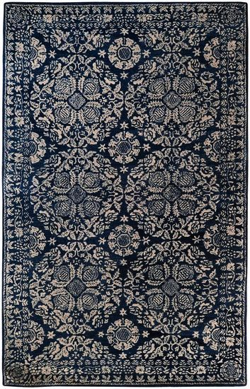Imagine this dark slate blue rug in your living room…from the Smithsonian Collection for Surya (SMI-2112)